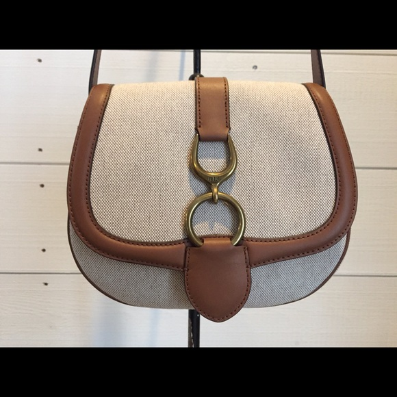 4cc1ea16367c RALPH LAUREN Barrington Saddle Crossbody Bag NEW